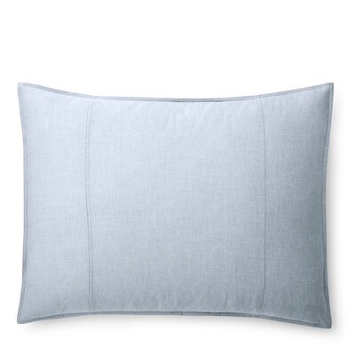 Graydon Melange Sham Size: King, Color: Chambray