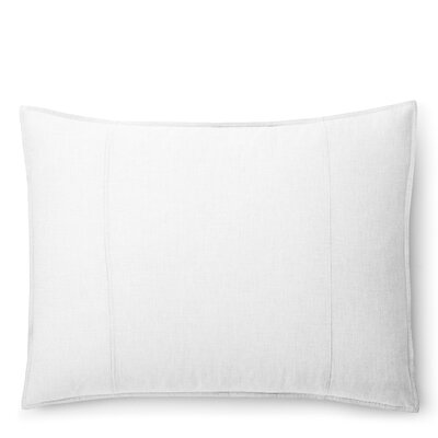 Graydon Melange Sham Size: King, Color: White