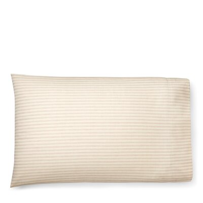 Graydon Shirting Stripe Pillow Case Size: King, Color: Dune/Nantucket Red