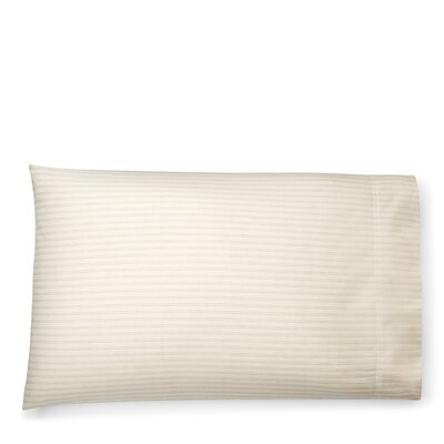 Graydon Shirting Stripe Pillow Case Size: Standard/Twin, Color: Dune/Chambray
