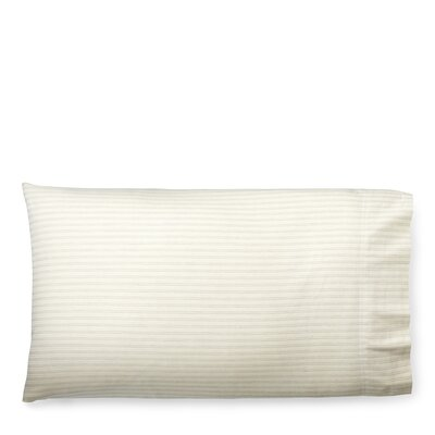 Graydon Shirting Stripe Pillow Case Size: King, Color: Dune/Fog