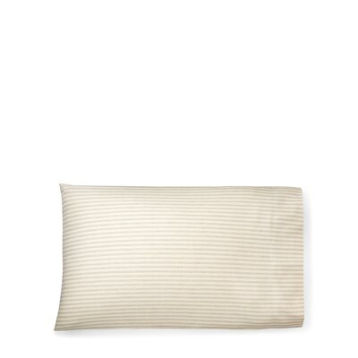 Graydon Shirting Stripe Pillow Case Size: King, Color: Dune/Indigo