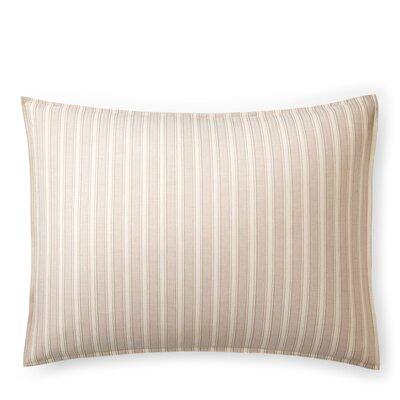 Graydon Bold Stripe Sham Size: King, Color: Dune/Linen