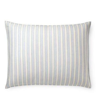 Graydon Bold Stripe Sham Size: King, Color: Dune/Chambray