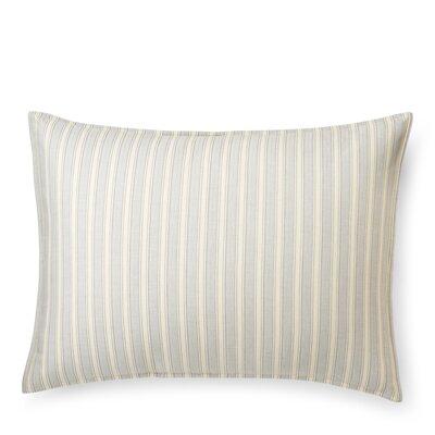 Graydon Bold Stripe Sham Size: Standard/Twin, Color: Dune/Fog