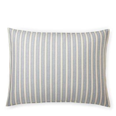 Graydon Bold Stripe Sham Size: Standard/Twin, Color: Dune/Indigo