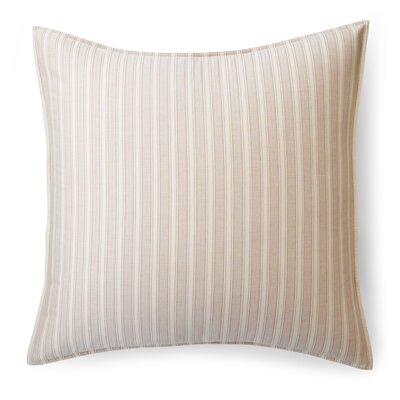 Graydon Bold Stripe Euro Sham Color: Dune/Linen