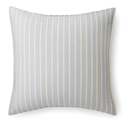 Graydon Bold Stripe Euro Sham Color: Dune/Chambray