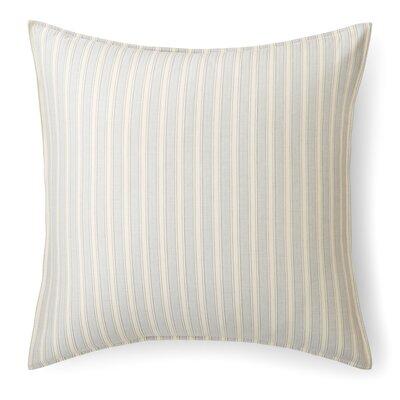 Graydon Bold Stripe Euro Sham Color: Dune/Fog