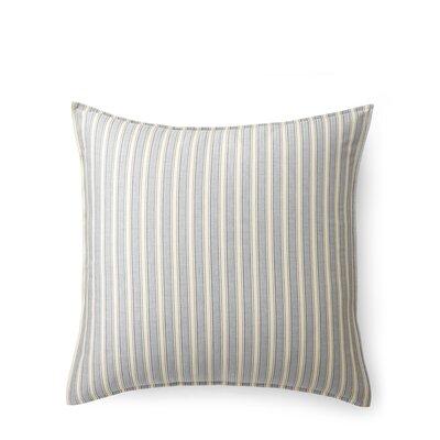 Graydon Bold Stripe Euro Sham Color: Dune/Indigo