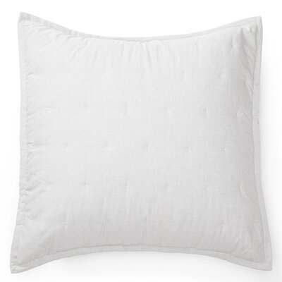 Graydon Quilted Euro Sham Color: White