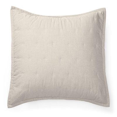 Graydon Quilted Euro Sham Color: Dune