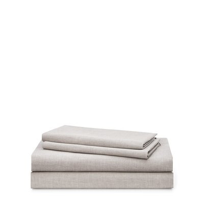 Graydon Melange 212 Thread Count 100% Cotton Sheet Set Size: Queen, Color: Fog