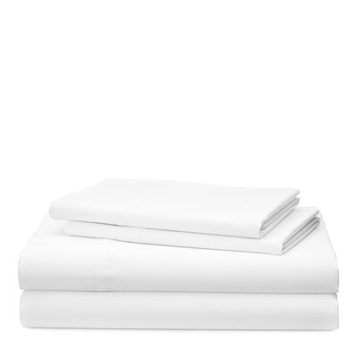 Spencer Solid 475 Thread Count 100% Cotton Sheet Set Size: Queen, Color: White