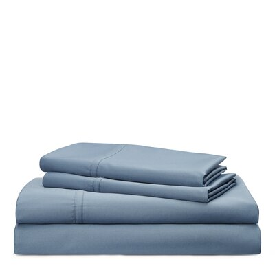 Spencer Solid 475 Thread Count 100% Cotton Sheet Set Size: King, Color: King Fisher Blue