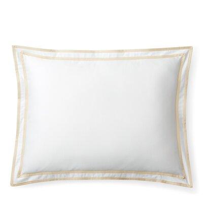 Spencer Border Cotton Lumbar Pillow Color: Flax