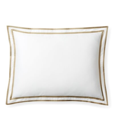 Spencer Border Cotton Lumbar Pillow Color: Wheat