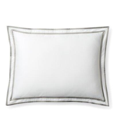 Spencer Border Cotton Lumbar Pillow Color: Gray