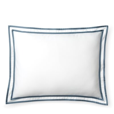 Spencer Border Cotton Lumbar Pillow Color: Blue