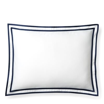 Spencer Border Cotton Lumbar Pillow Color: Navy