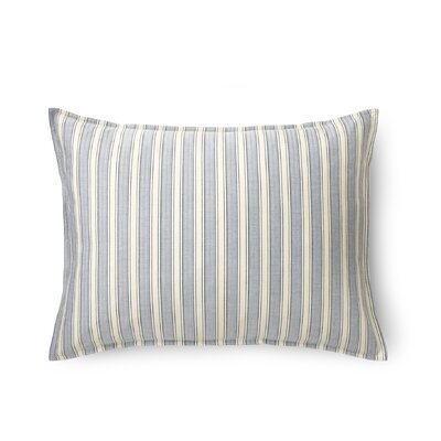 Graydon Cotton Lumbar Pillow Color: Indigo