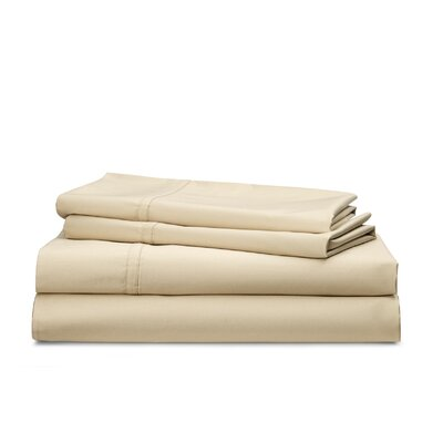 Spencer Solid 475 Thread Count 100% Cotton Sheet Set Size: King, Color: Wheat