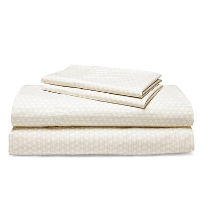 Lakeview Lattice 200 Thread Count 100% Cotton Sheet Set Size: Queen