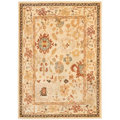 Brice Cream Area Rug Rug Size: Rectangle 53 x 76