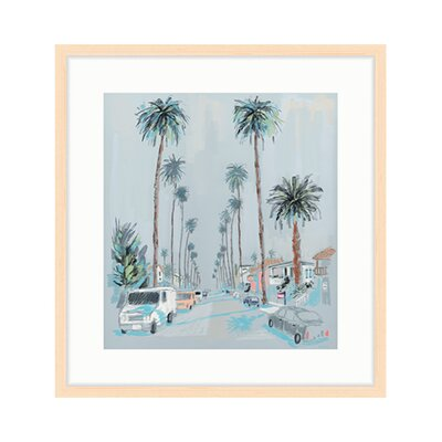 """'18th Street' Framed Acrylic Painting Print Format: Natural Framed, Size: 16.25"""" H x 15.5"""" W 111-003"""