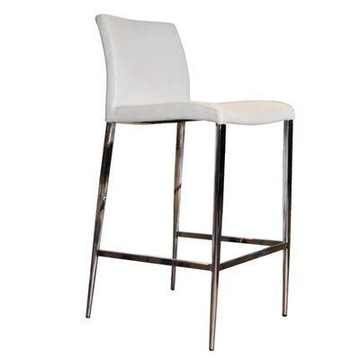 Raven 26 Bar Stool Color: White