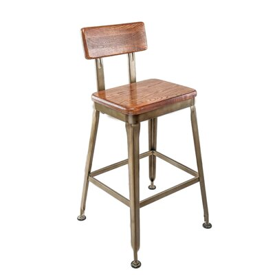 Dicken Industrial Bar Stool Seat Height: 30