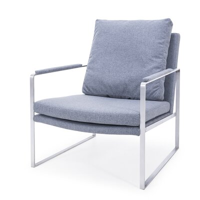 Waldrop Lounge Chair Upholstery: Gray