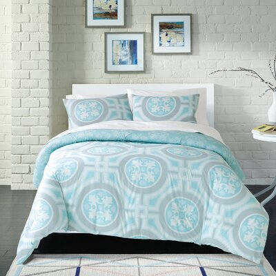 Earleen 100% Cotton 2 Piece Reversible Comforter Set Size: King