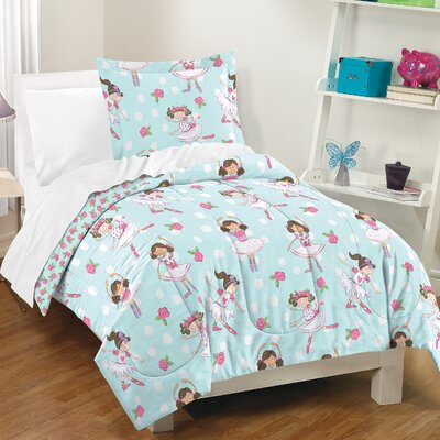 Lynette 100% Cotton 2 Piece Reversible Comforter Set Size: Full/Queen