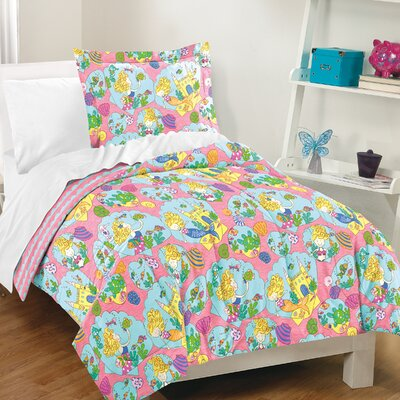 Mable 100% Cotton 2 Piece Reversible Comforter Set Size: Full/Queen