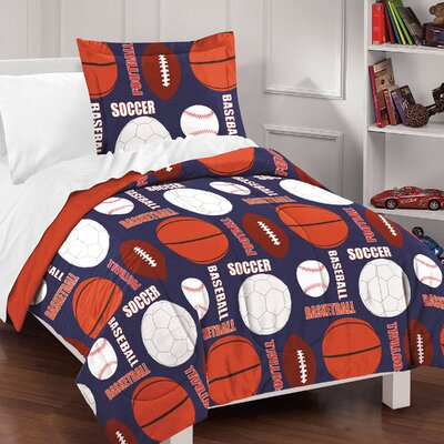 Madeleine 100% Cotton 2 Piece Reversible Comforter Set Size: Full/Queen