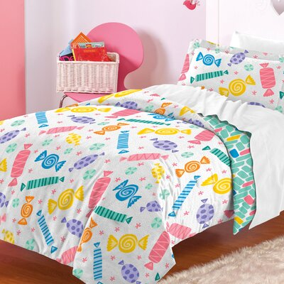 Madelyn 100% Cotton 2 Piece Reversible Comforter Set Size: Full/Queen