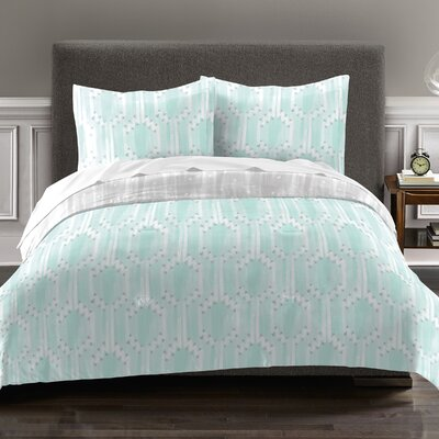 Earl 100% Cotton 2 Piece Reversible Comforter Set Size: Twin