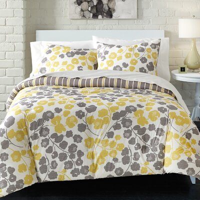 McDonough 100% Cotton 2 Piece Reversible Comforter Set Size: King