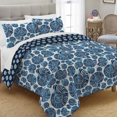 Tecca 100% Cotton 2 Piece Reversible Comforter Set Size: King