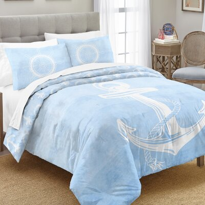 Keyla 100% Cotton 2 Piece Reversible Comforter Set Size: Full/Queen