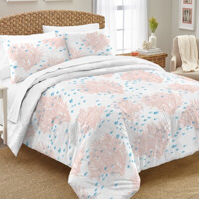 Tressa�100% Cotton 2 Piece Reversible Comforter Set Size: Twin