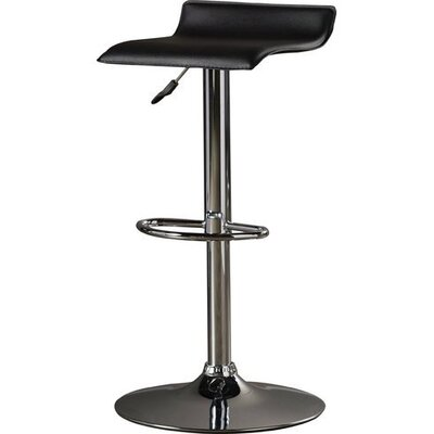 Wendolyn Adjustable Height Swivel Bar Stool Upholstery: Gray