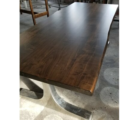 Selden Live Edge Maple Dining Table Size: 84 L x 40 W x 30 H
