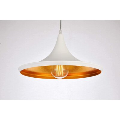 Remley 1-Light Inverted Pendant Finish: White