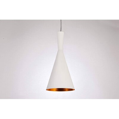 Remillard 1-Light Mini Pendant Finish: White