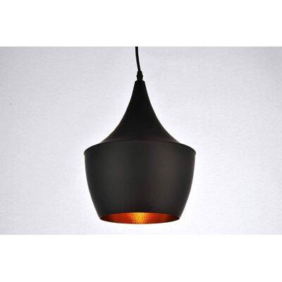 Remick 1-Light Mini Pendant Finish: Black