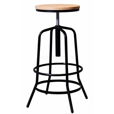 Garin Adjustable Height Swivel Bar Stool