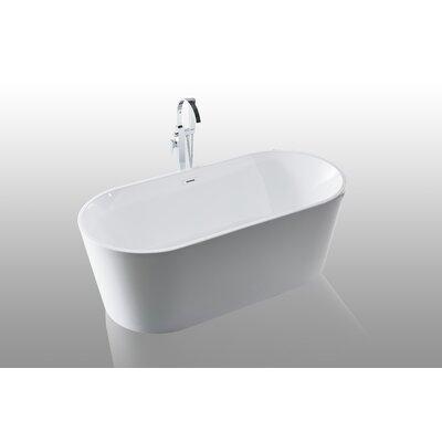 Scarlett Freestanding Soaking Bathtub Size: 24 H x 63 W x 30 D