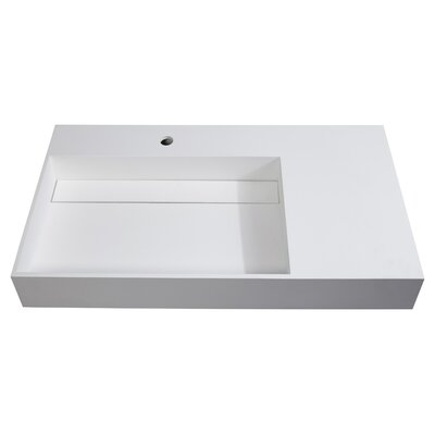 Juniper Stone 36 Wall Mount Bathroom Sink
